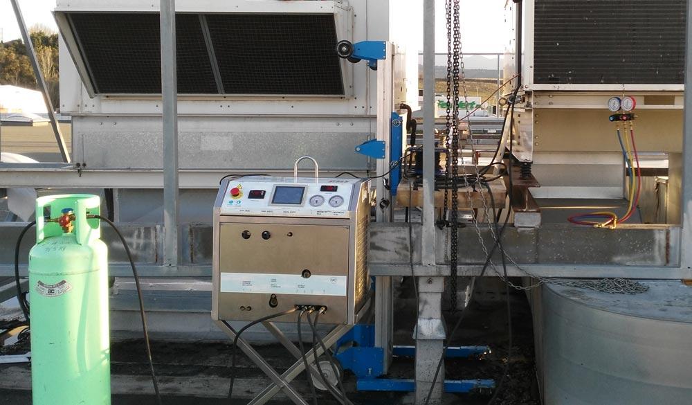 Limpieza de circuitos frigoríficos industriales